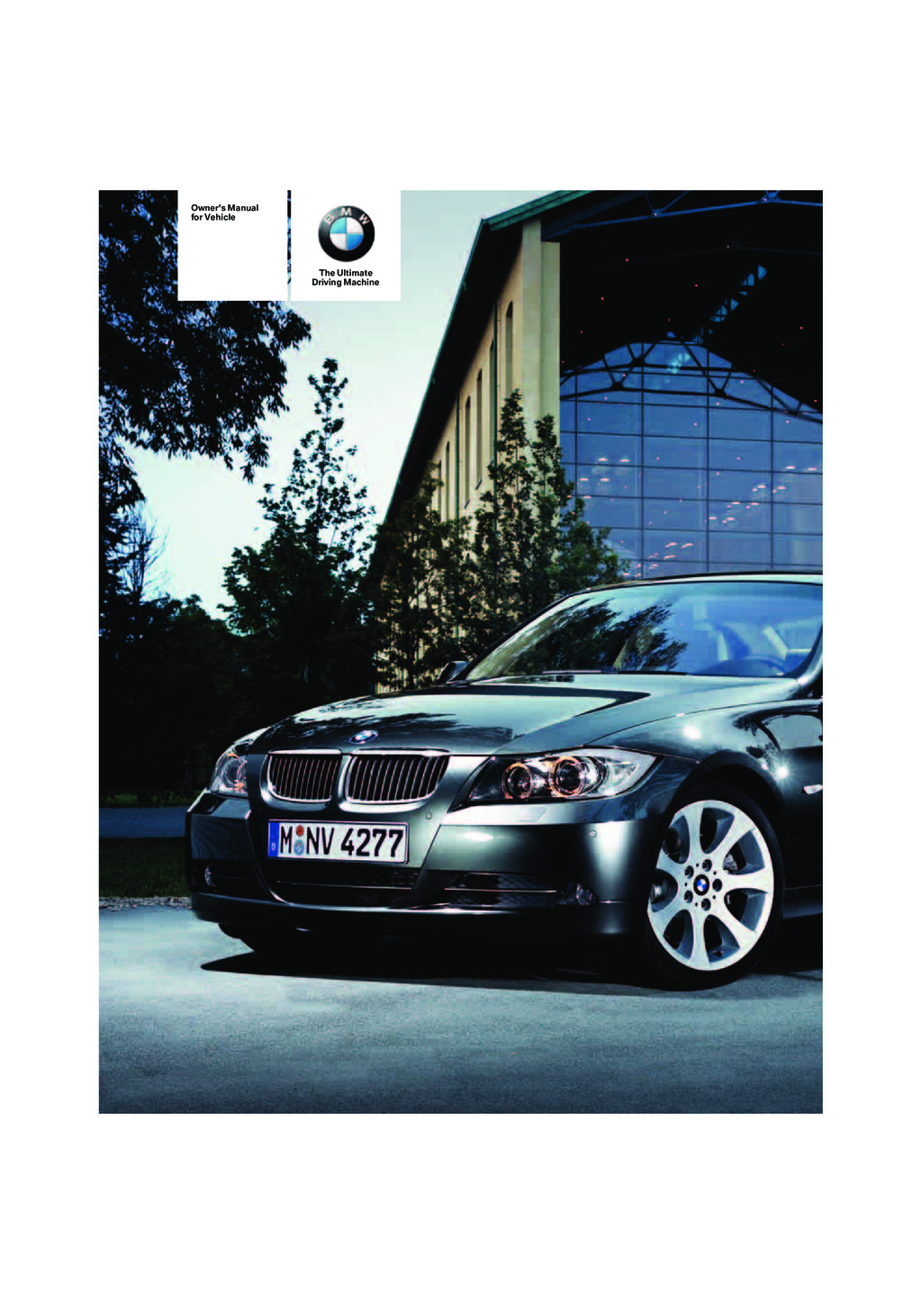 2008 BMW 3 Sedan And Sportswagon owners manual