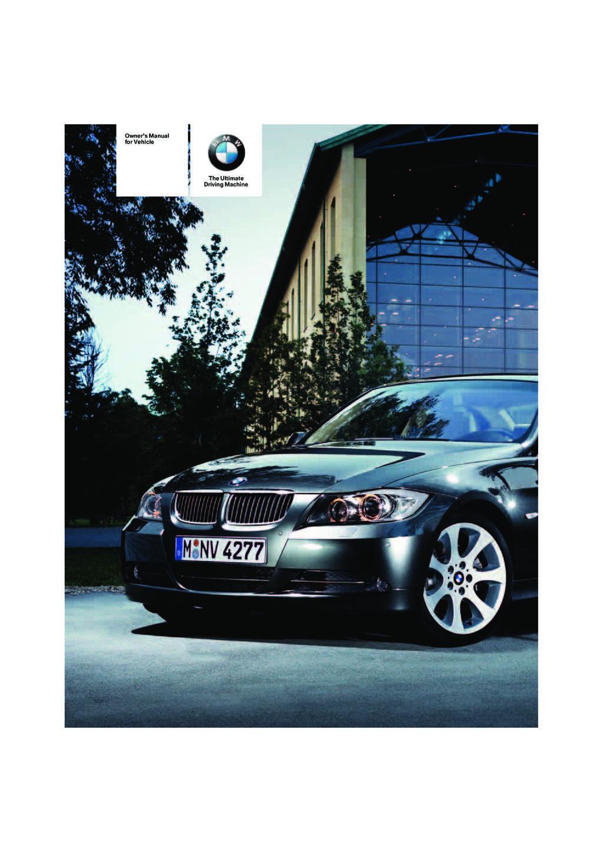 2008 BMW 3 Series owners manual