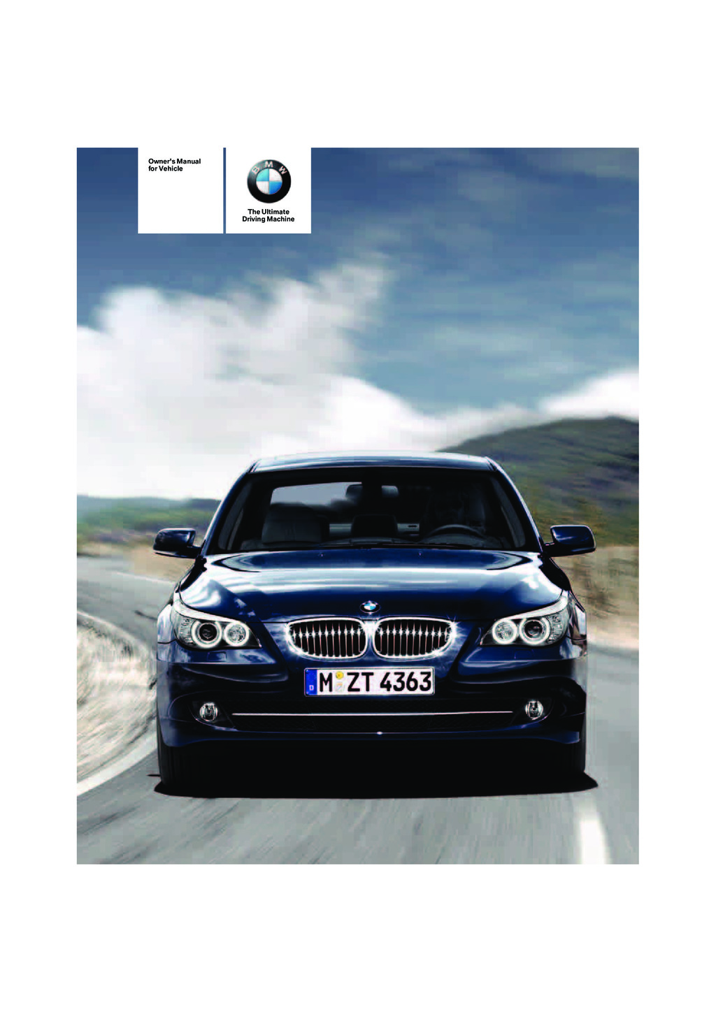 2008 BMW 5 Series owners manual