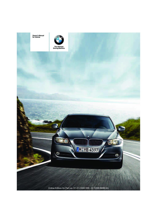 2009 BMW 3 Series Owner's Manual