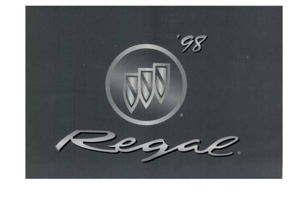 1998 Buick Regal owners manual