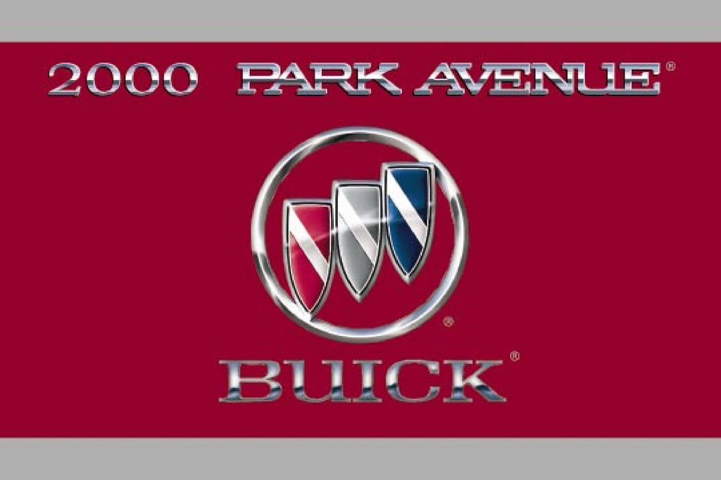 2000 Buick Park Avenue owners manual