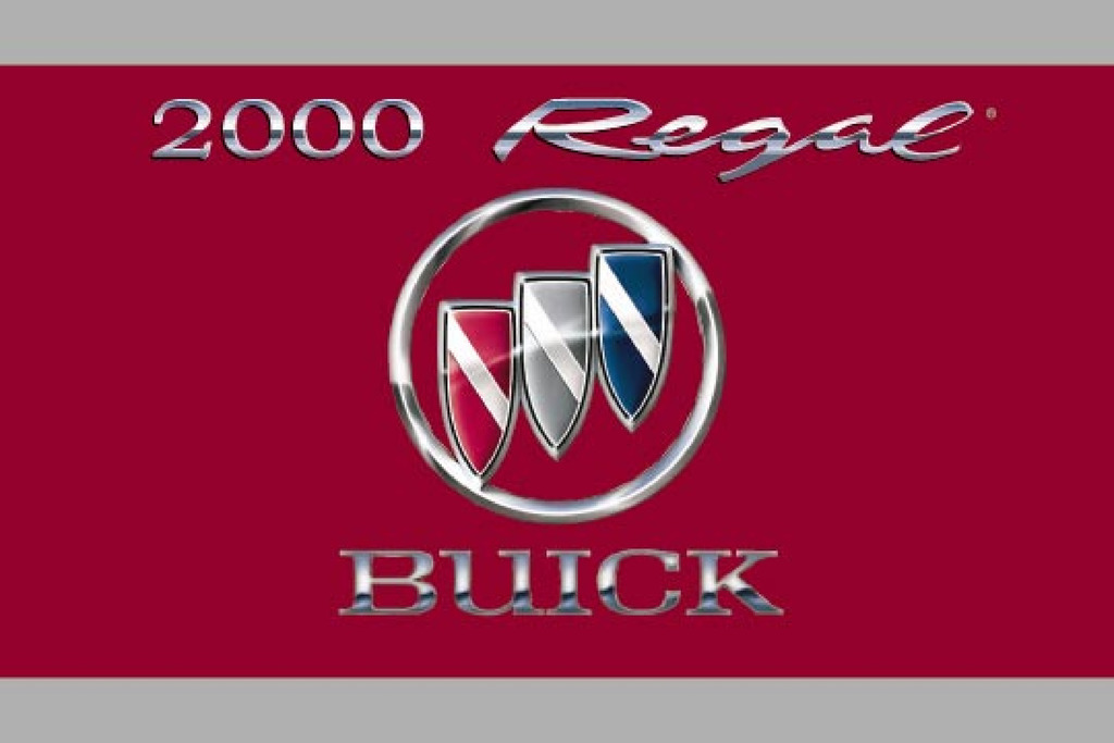 2000 Buick Regal owners manual