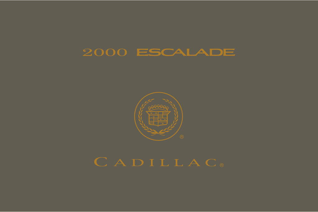 2000 Cadillac Escalade owners manual