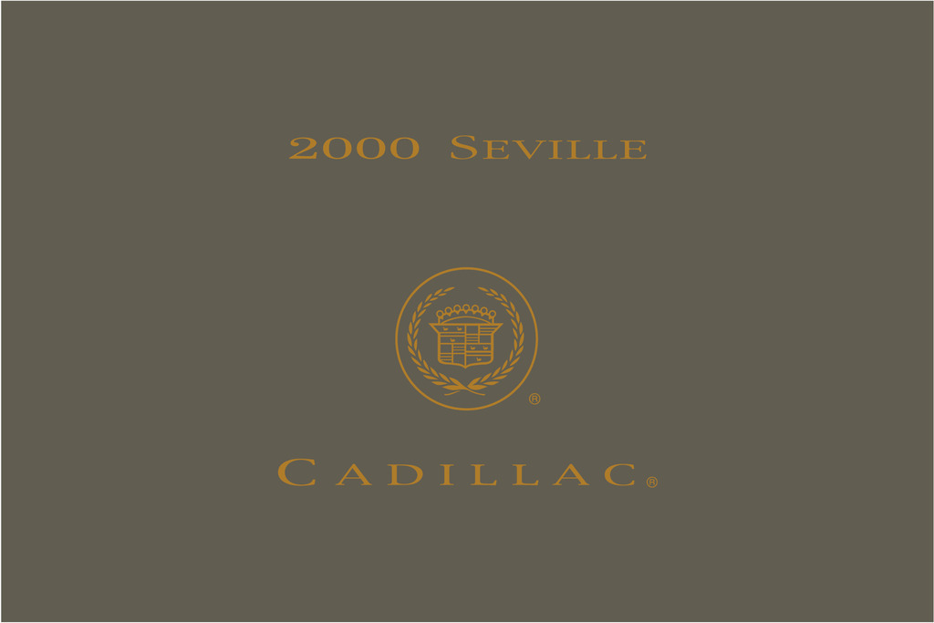 2000 Cadillac Seville owners manual