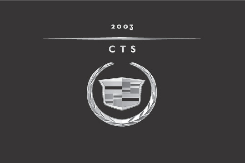2003 Cadillac Cts owners manual