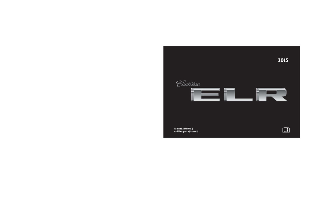 2015 Cadillac Elr owners manual