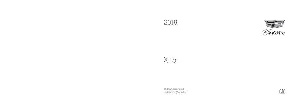 2019 Cadillac Xt5 owners manual