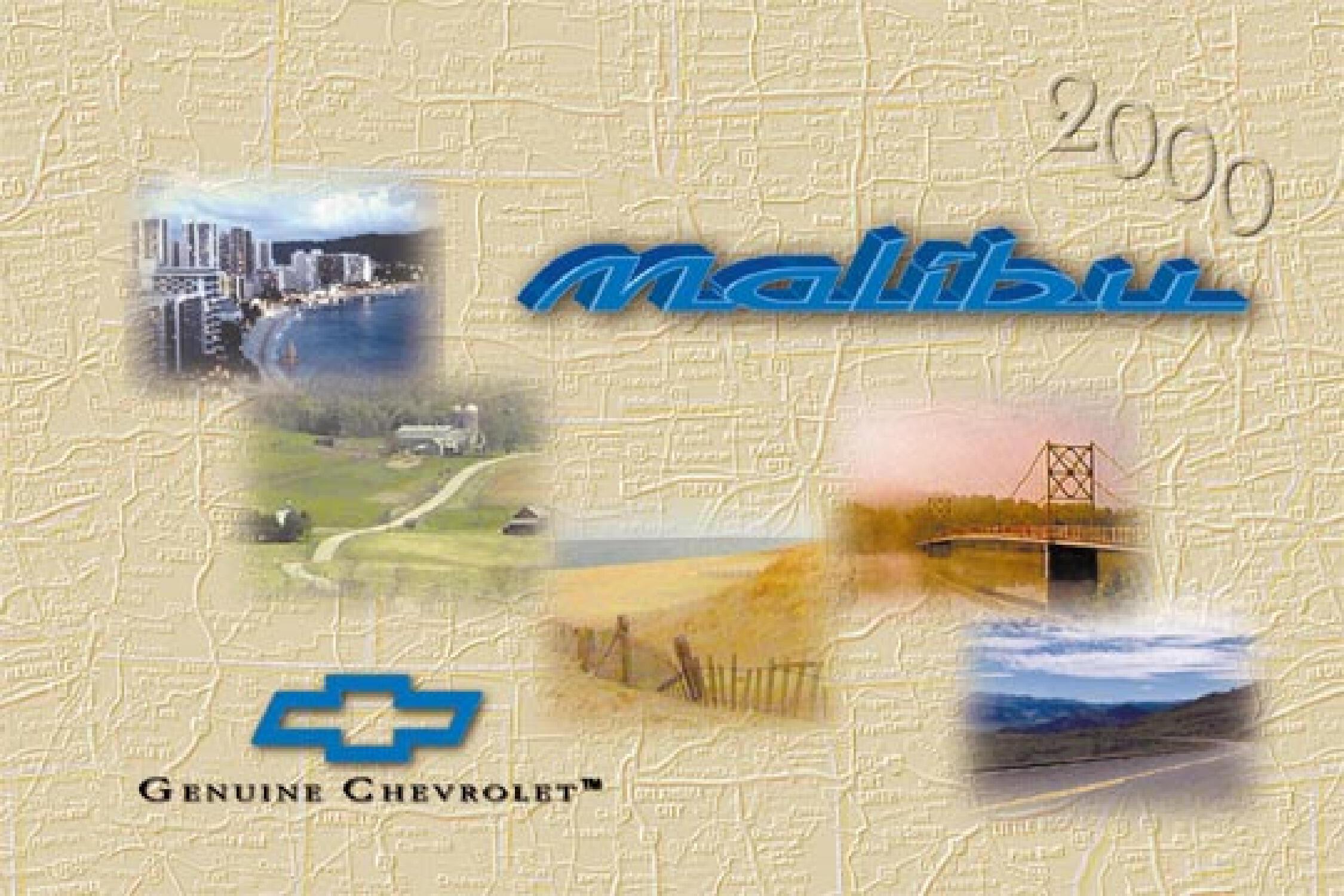 2000 Chevrolet Malibu owners manual