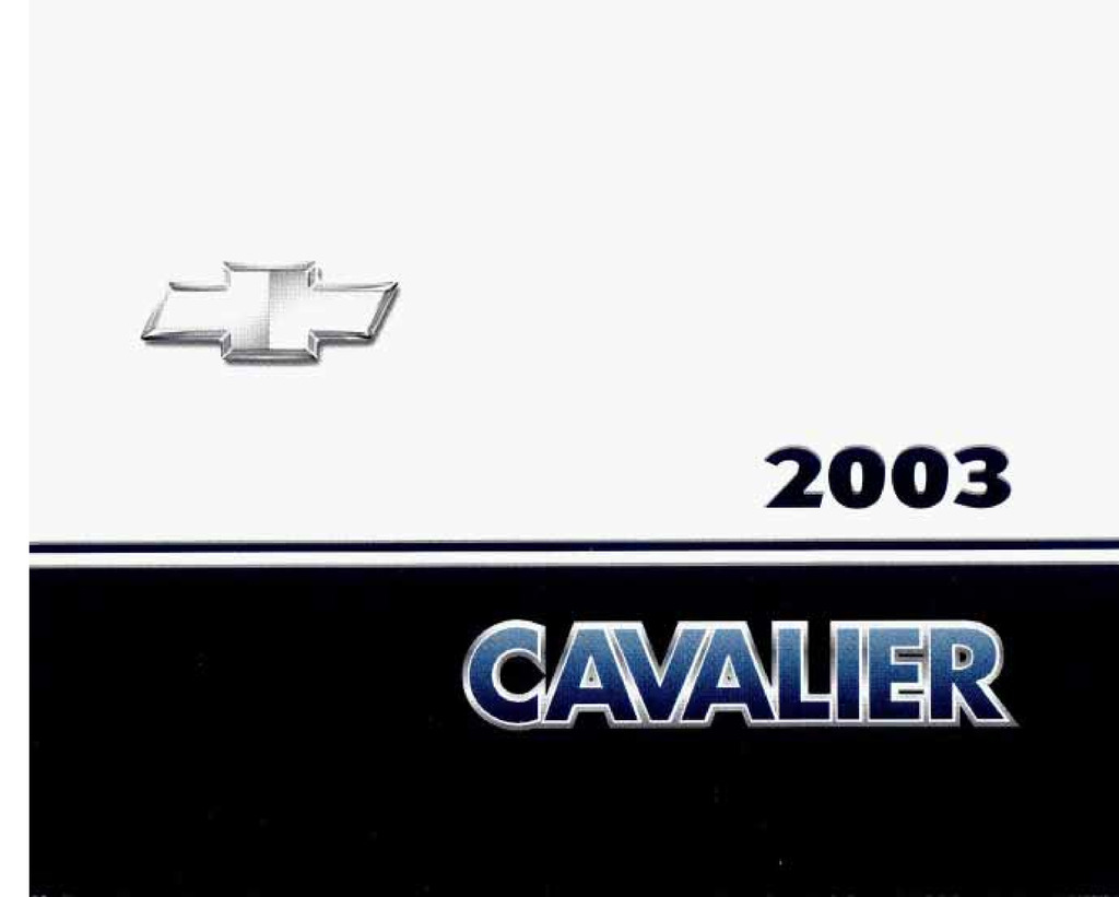 2003 Chevrolet Cavalier owners manual