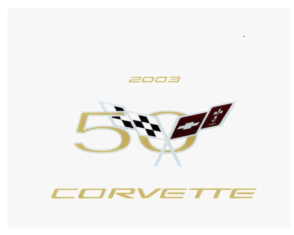2003 Chevrolet Corvette owners manual