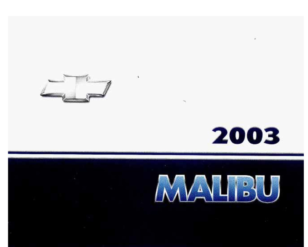 2003 Chevrolet Malibu owners manual