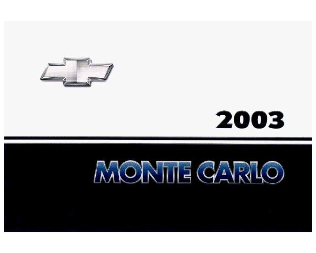 2003 Chevrolet Monte Carlo owners manual