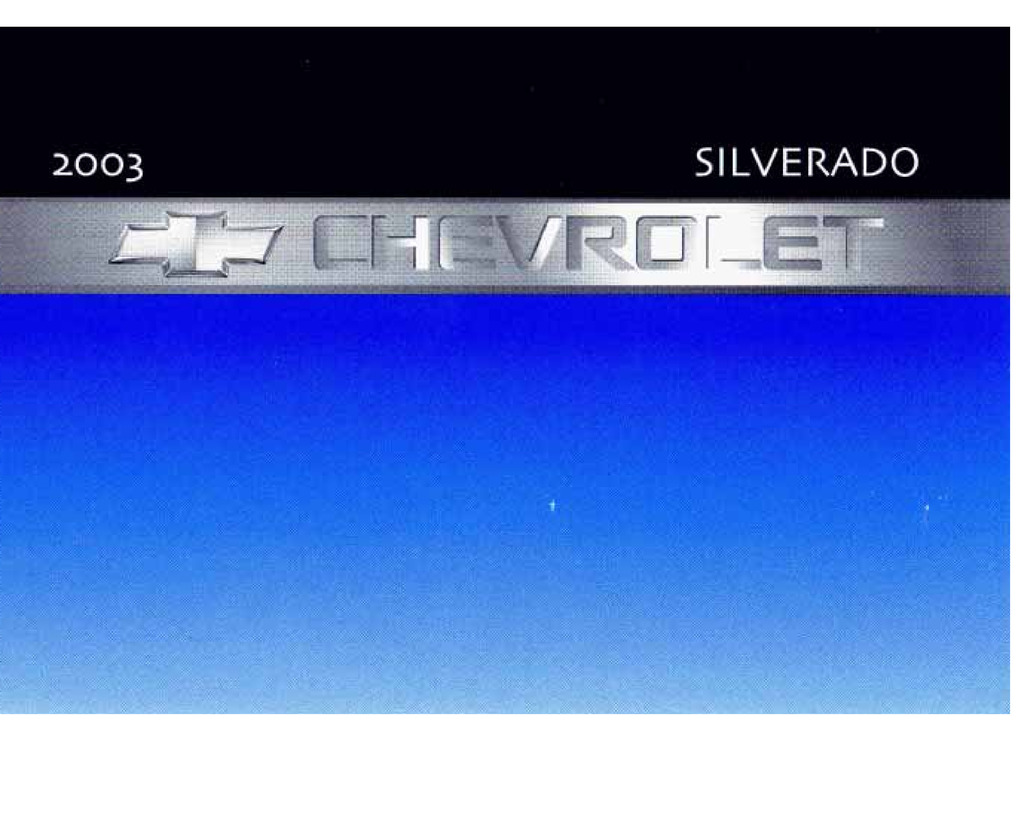 2003 Chevrolet Silverado owners manual