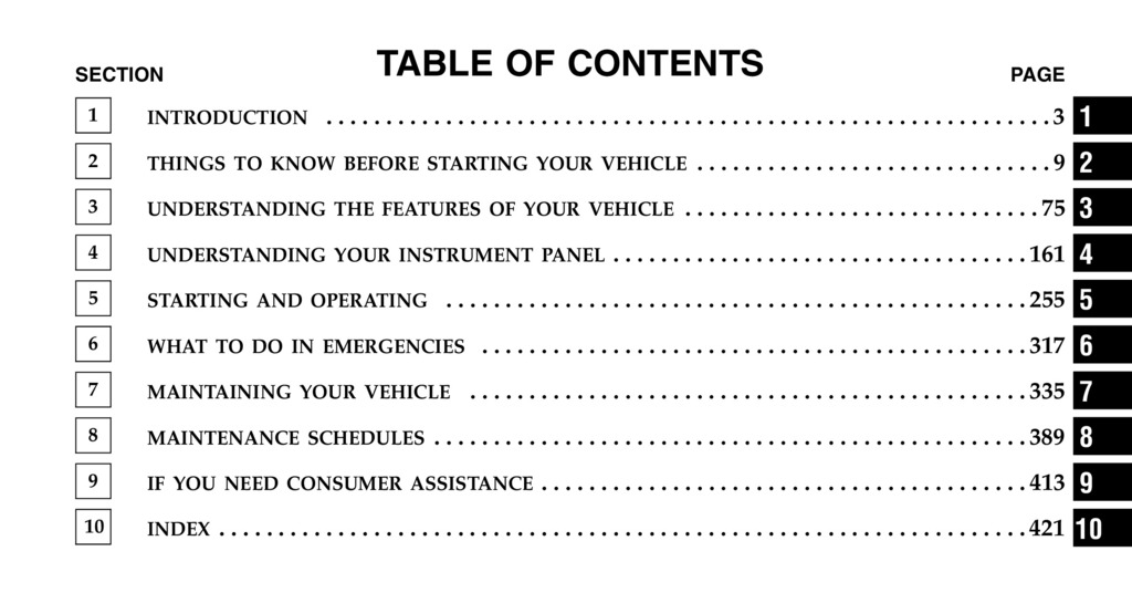 2006 Chrysler Pacifica owners manual