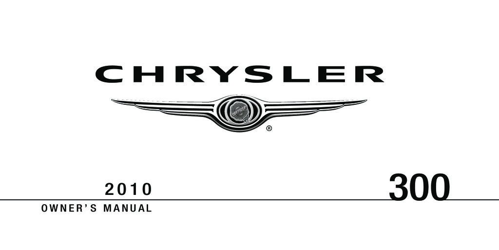 2010 Chrysler 300 owners manual