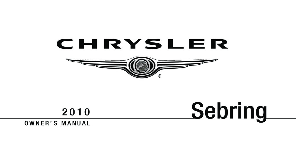 2010 Chrysler Sebring owners manual