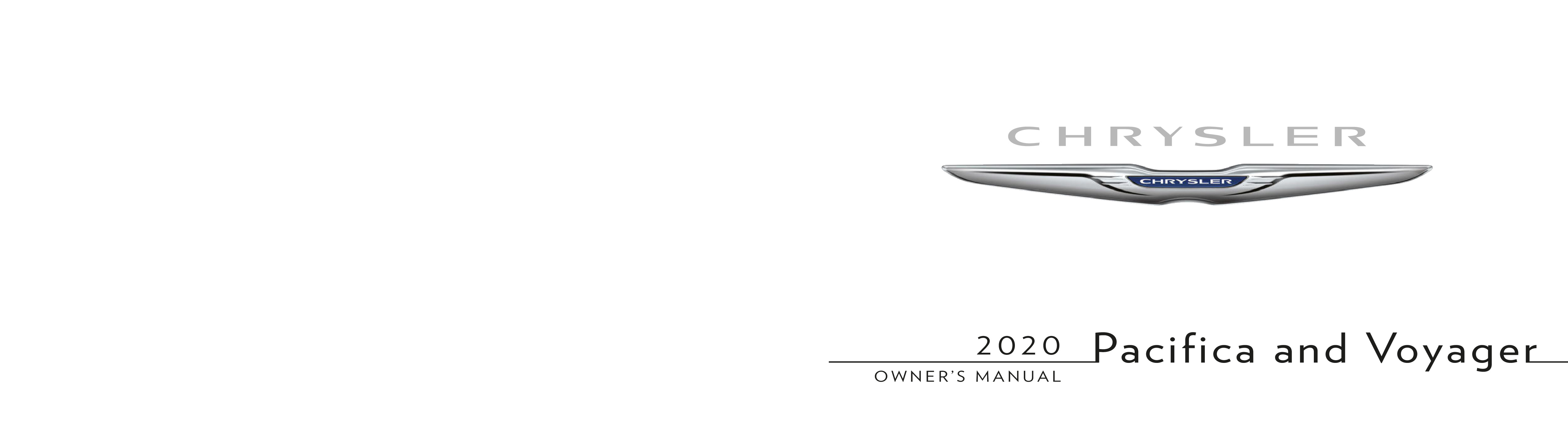 2020 Chrysler Pacifica Hybrid owners manual