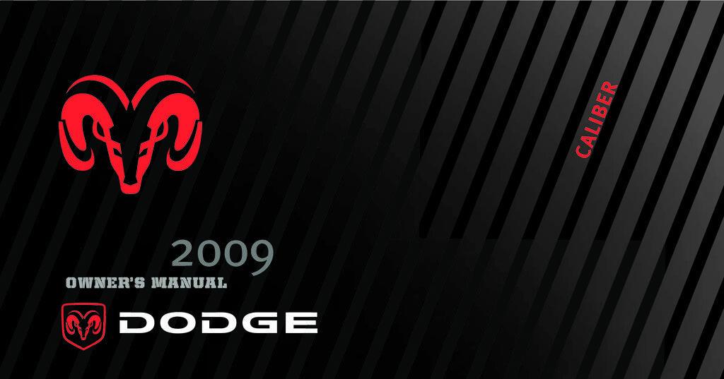 2009 Dodge Caliber owners manual