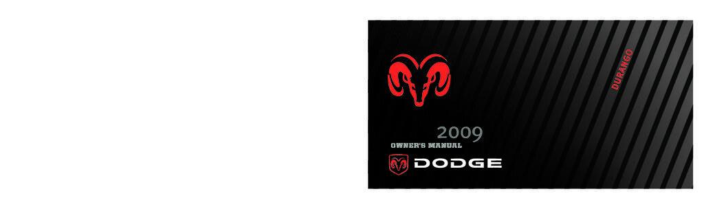 2009 Dodge Durango owners manual