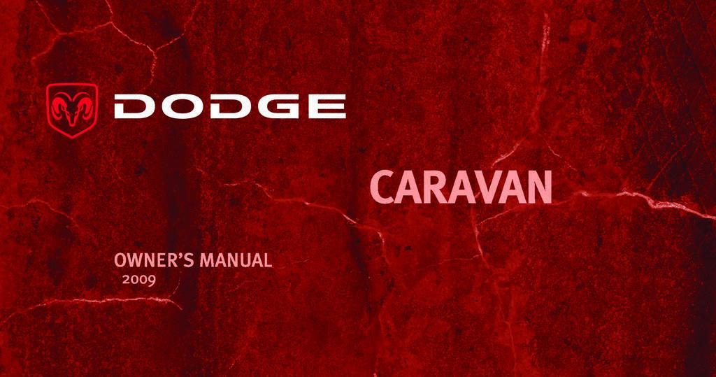 2009 Dodge Grand Caravan owners manual
