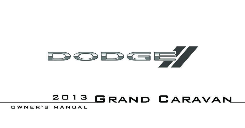 2013 Dodge Grand Caravan owners manual
