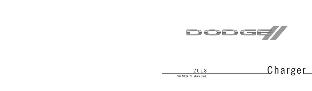 2018 Dodge Charger owners manual