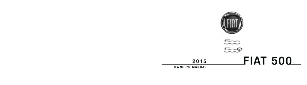 2015 Fiat 500c owners manual