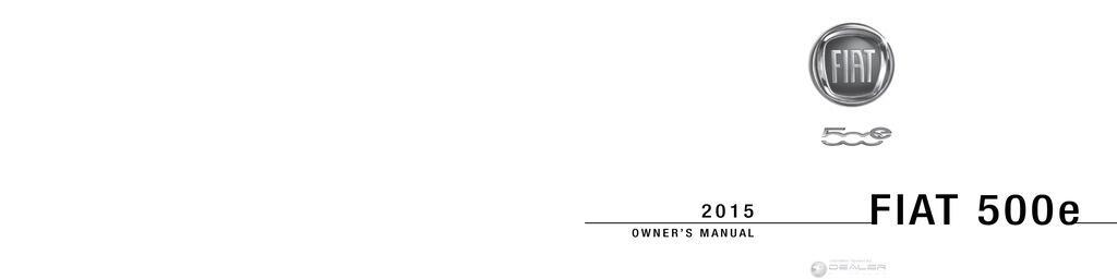 2015 Fiat 500e owners manual