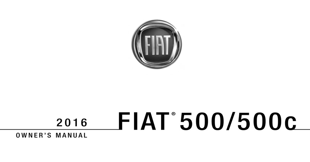 2016 Fiat 500 owners manual