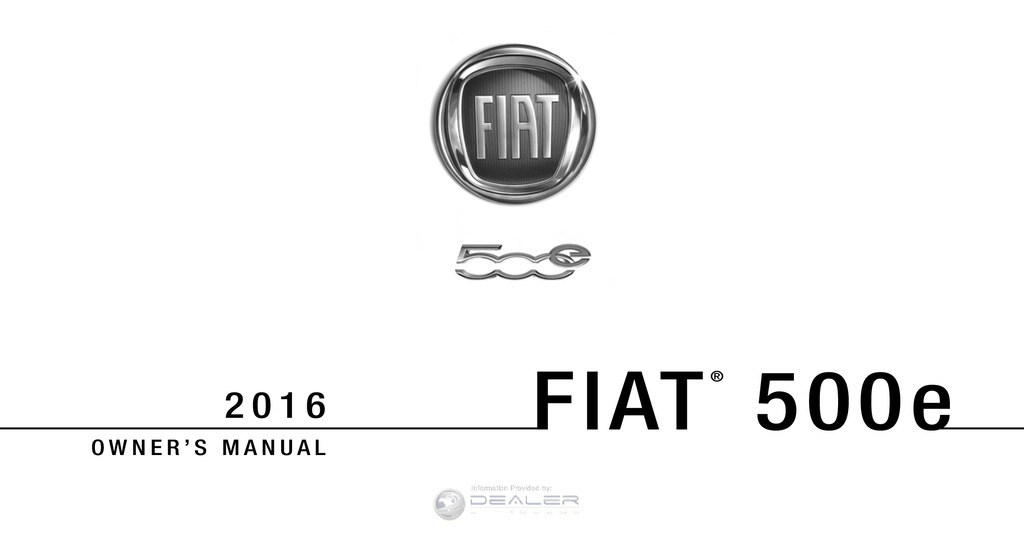 2016 Fiat 500e owners manual
