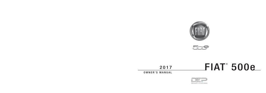 2017 Fiat 500e owners manual