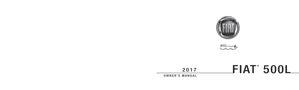 2017 Fiat 500l owners manual
