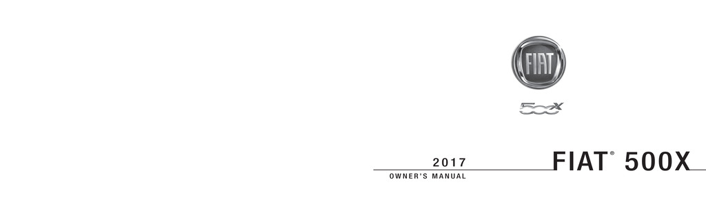 2017 Fiat 500x owners manual