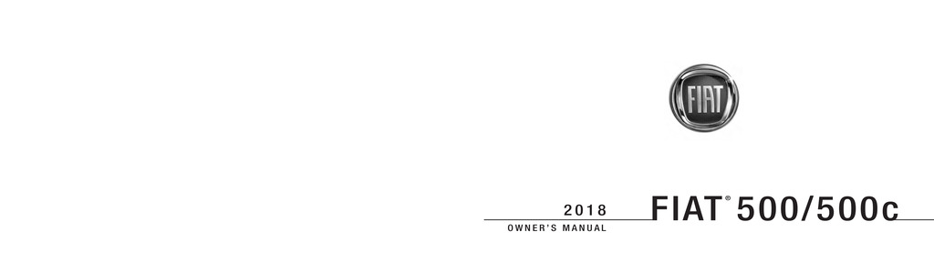 2018 Fiat 500 owners manual