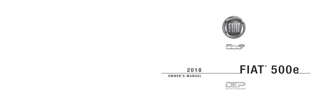 2018 Fiat 500e owners manual