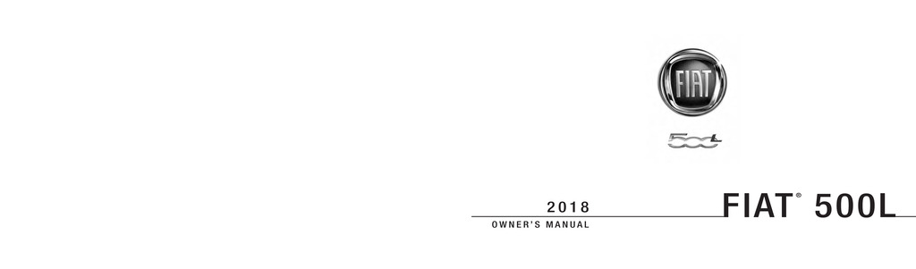 2018 Fiat 500l owners manual