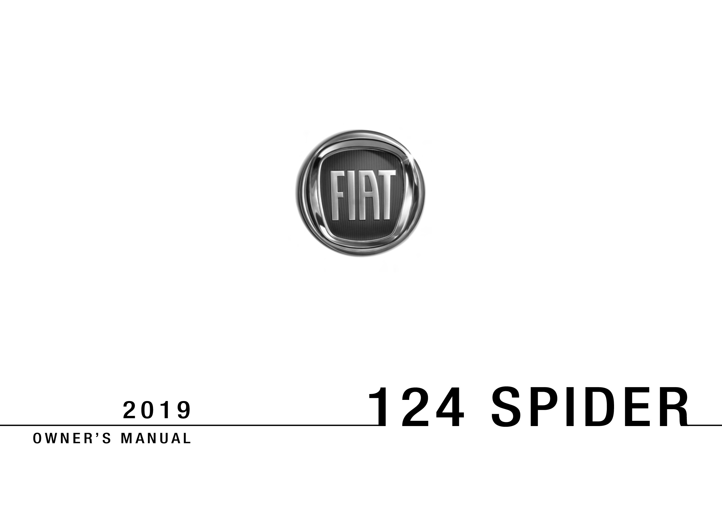2019 Fiat 124 Spider owners manual