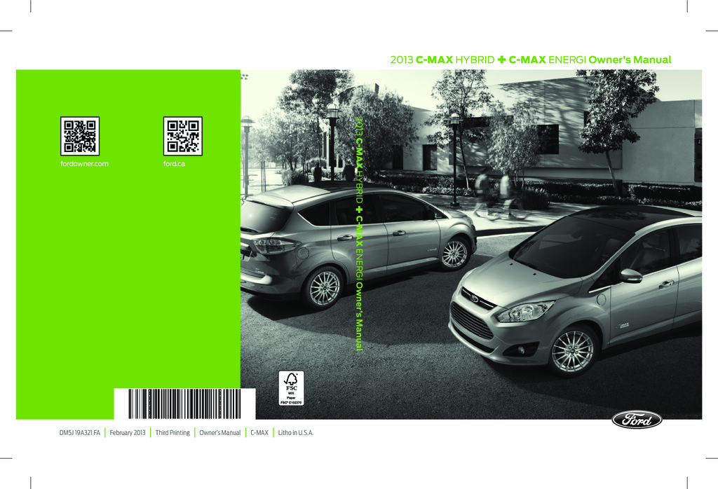 2013 Ford C Max owners manual
