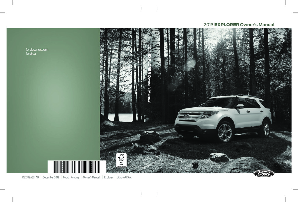 2013 Ford Explorer owners manual