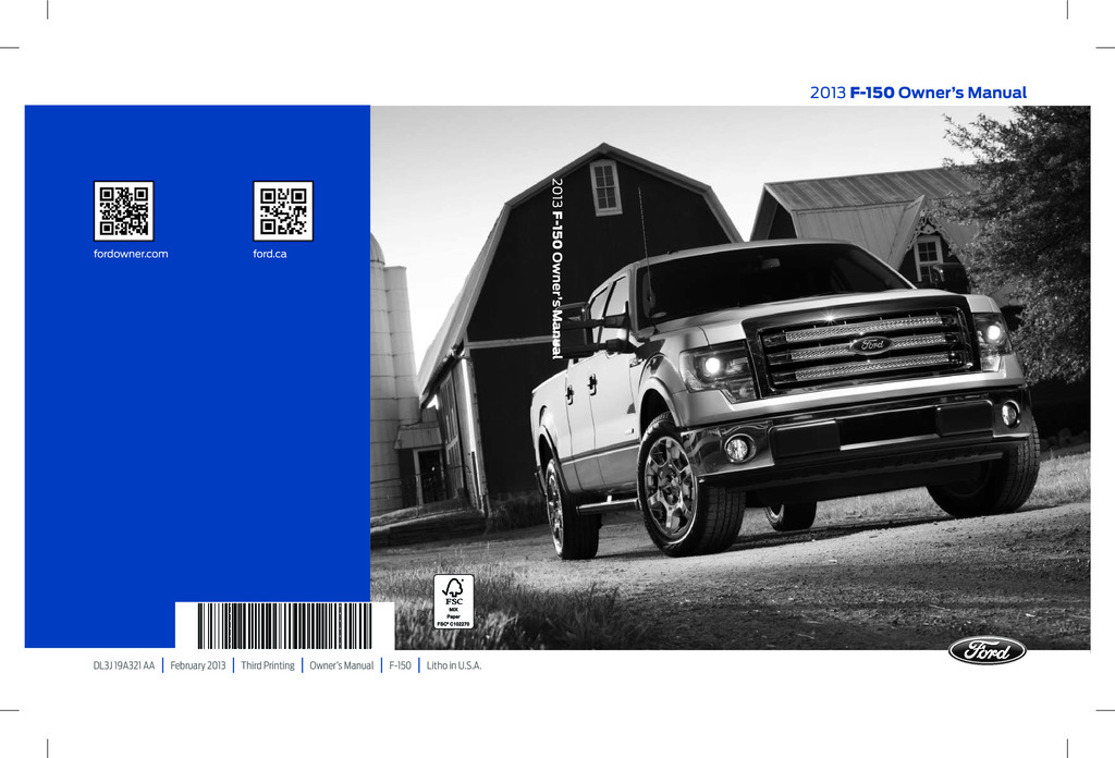 2013 Ford F150 owners manual