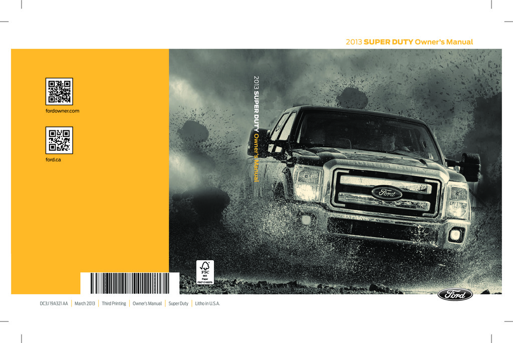 2013 Ford F250 owners manual