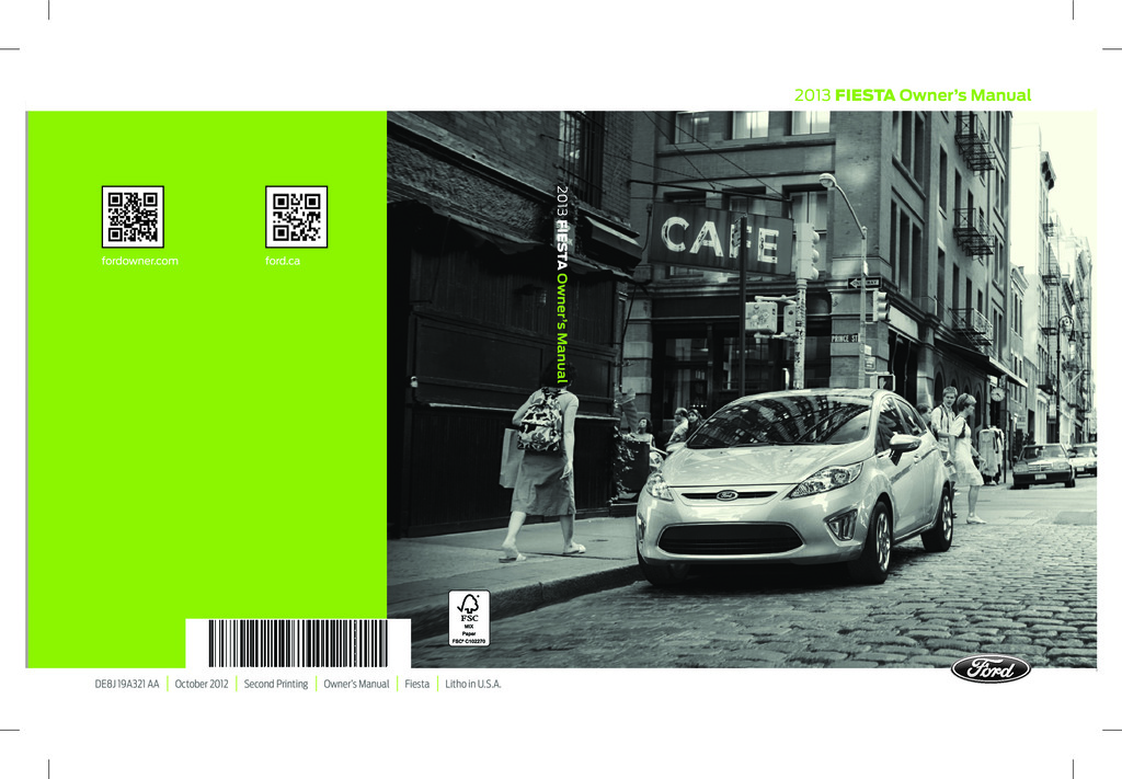 2013 Ford Fiesta owners manual