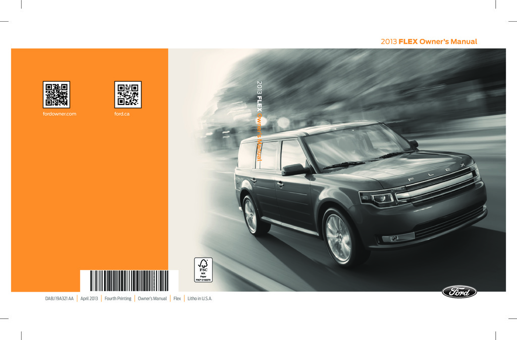 2013 Ford Flex owners manual