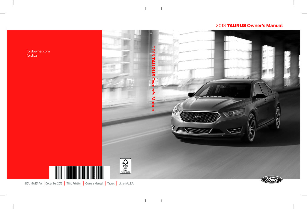 2013 Ford Taurus owners manual