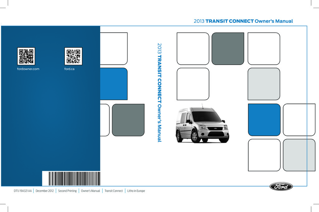 2013 Ford Transit Connect owners manual