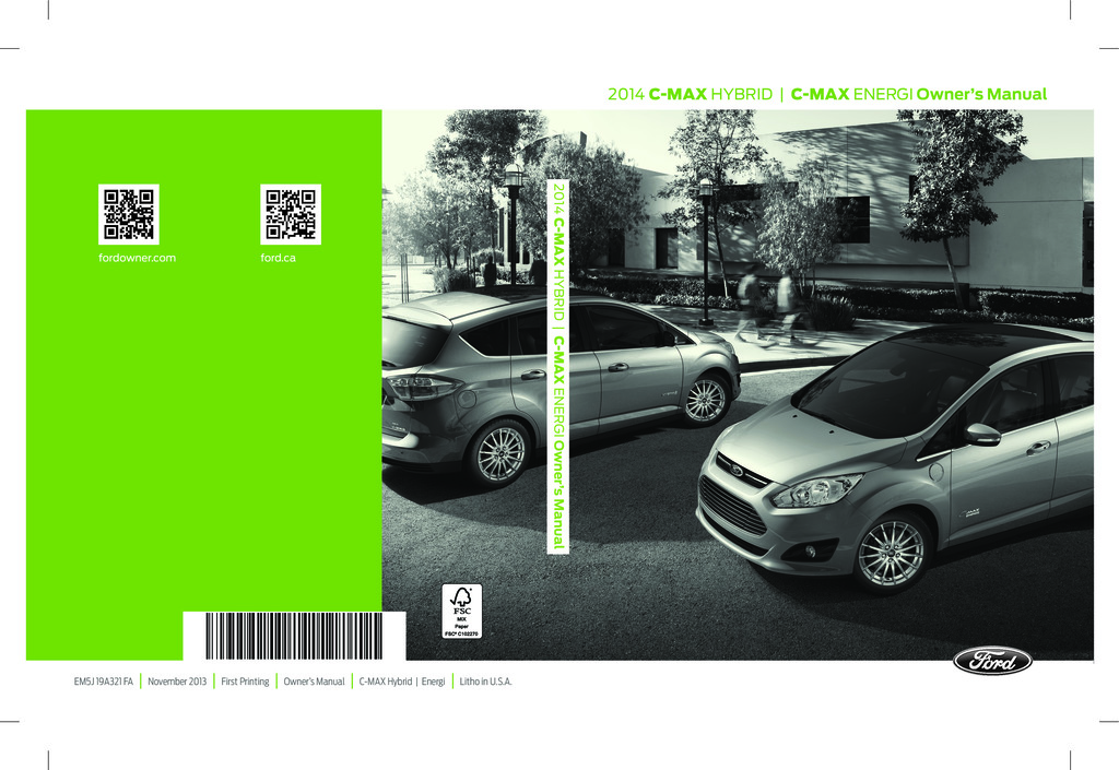 2014 Ford C Max owners manual