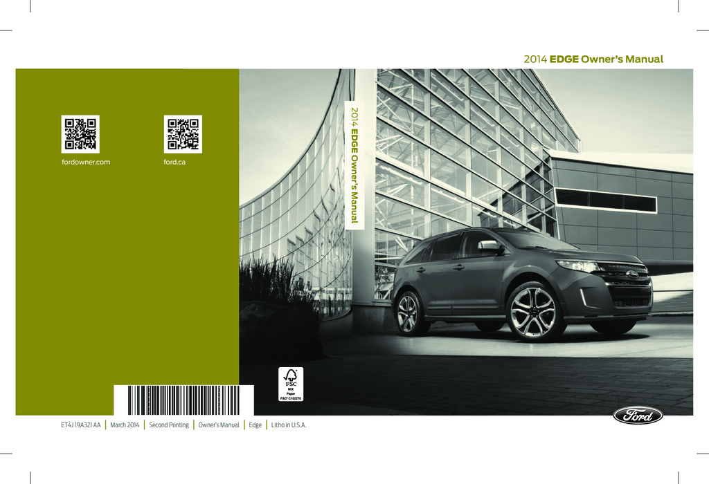 2014 Ford Edge owners manual
