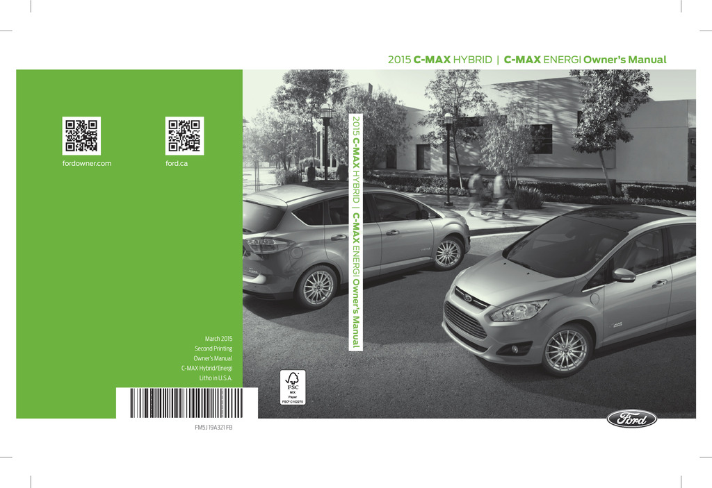 2015 Ford C Max owners manual