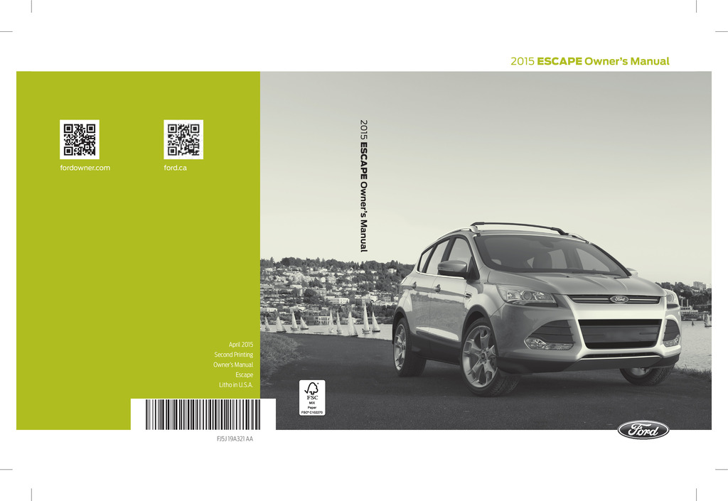 2015 Ford Escape owners manual